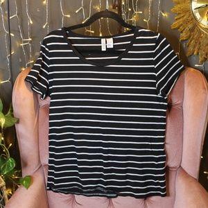 H&M Large Stripped TShirt